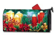 6701?Candles and Poinsettia? Linda Picken