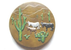 Burro stepping stone mold